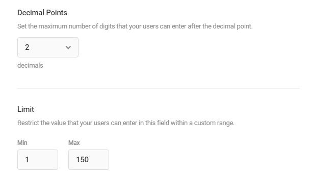 Edit Currency field settings in Forminator