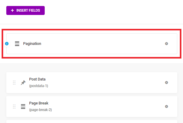 Pagination settings when page breaks used in a Forminator form