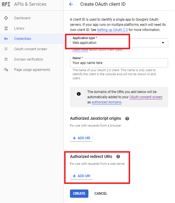 Select web app for Google sheets integration in Forminator