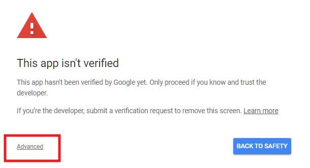 App unsafe alert from Google