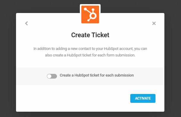 Create HubSpot ticket with Forminator integration