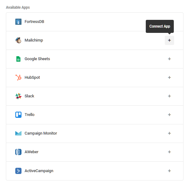 Integrate MailChimp in Forminator form