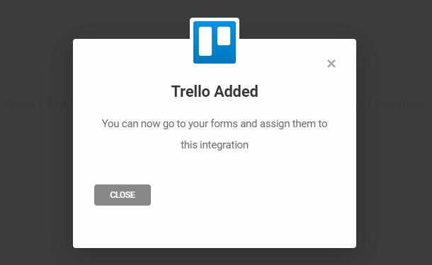 Trello successfully integrated in Forminator