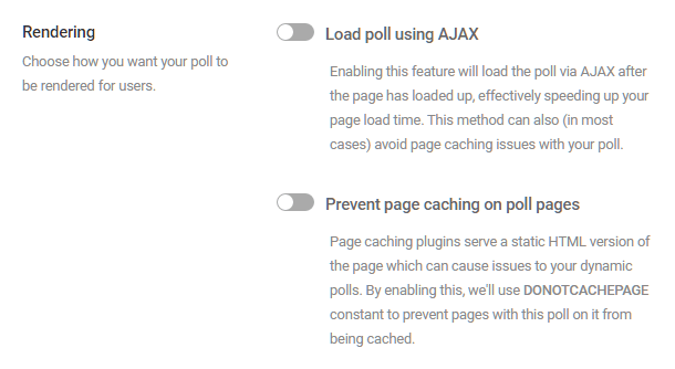 Adjust rendering options in Forminator poll