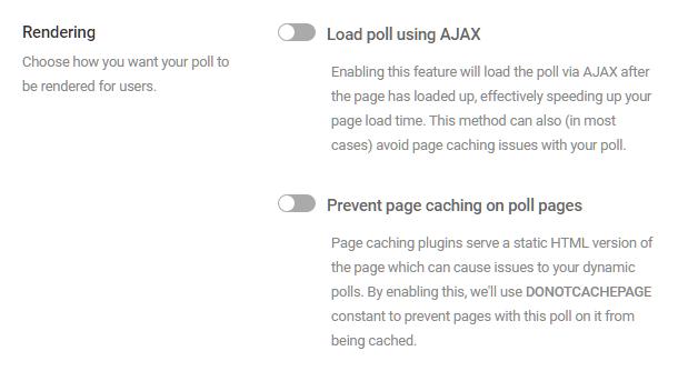 Adjust rendering options in Forminator poll