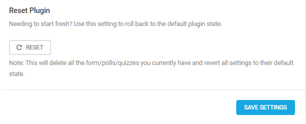 Reset option in Forminator