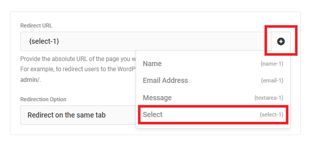 Dynamically redirect user after form submission