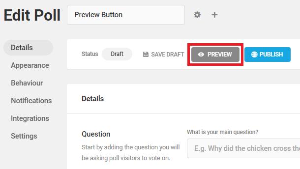 preview poll button