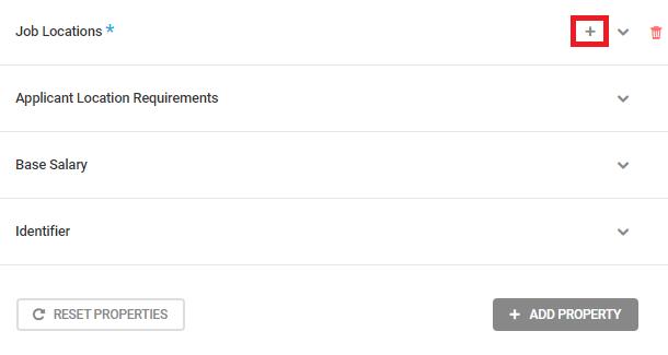 Job Posting schema type default properties