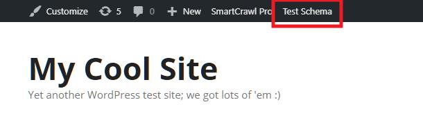SmartCrawl Test Schema button enabled