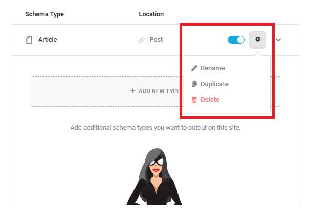 Schema type configuration options