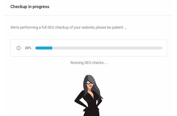 SEO Checkup progress indicator