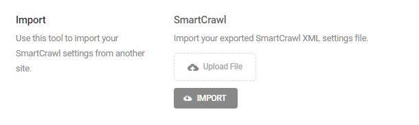 Import settings into SmartCrawl