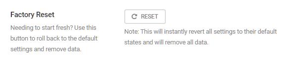 SmartCrawl reset option