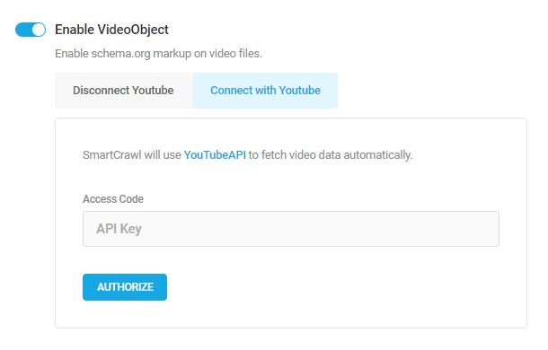 Paste API key in SmartCrawl settings