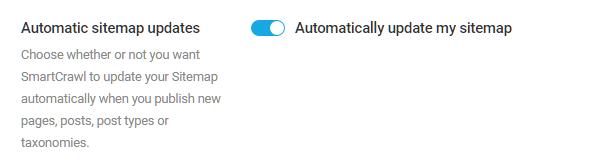 Option to auto-update SmartCrawl sitemap
