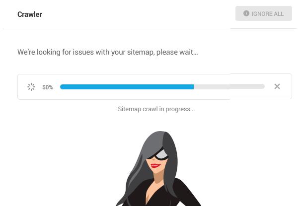 sitemap crawl progress bar