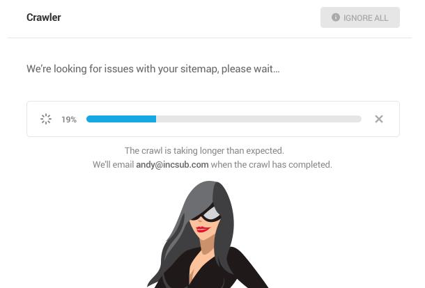 sitemap crawl taking longer than expected