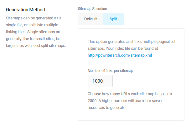 Choose sitemap generation method in SmartCrawl