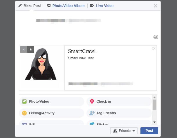 Homepage Facebook preview in SmartCrawl