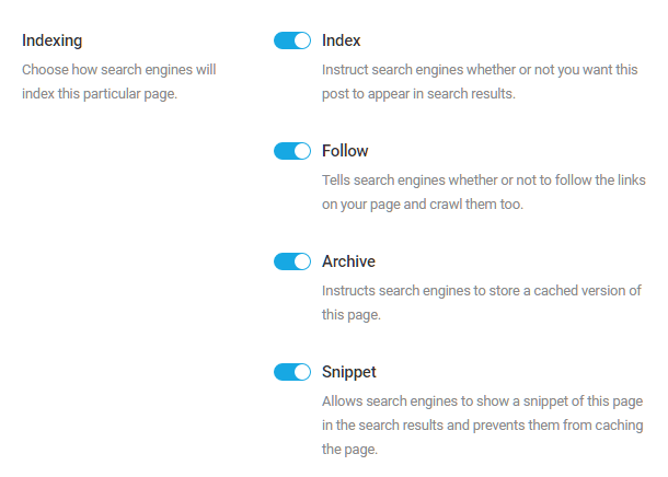 Homepage indexing options in SmartCrawl