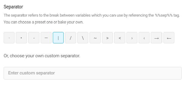 Title & meta separator in SmartCrawl