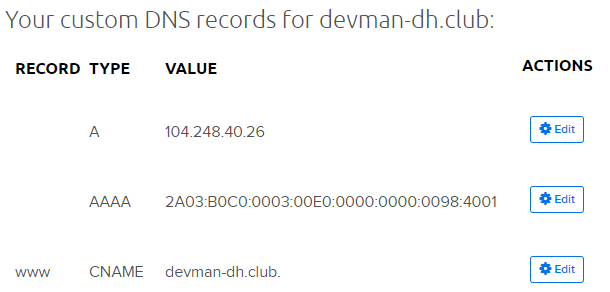 add dns records dreamhost