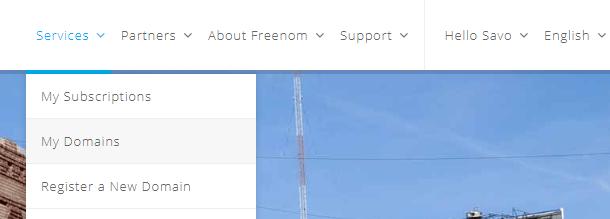 Freenom services my domain