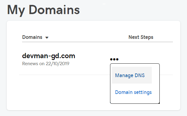 GoDaddy manage DNS
