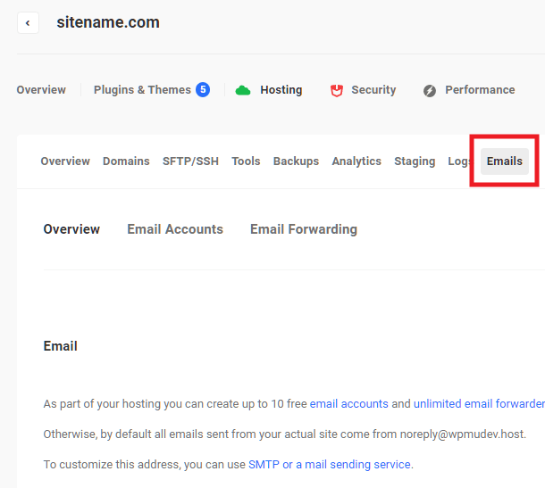 Locating email management tools