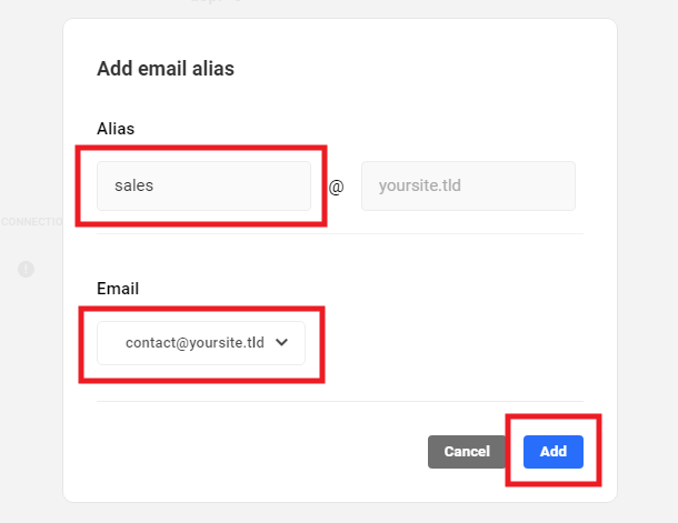 Email alias options in Hub 2.0