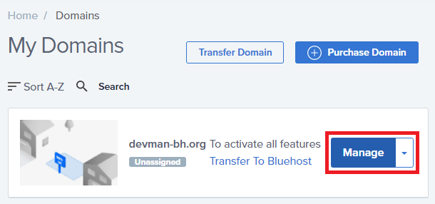 bluehost-my-domains