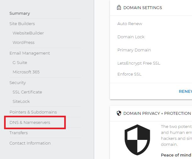 Manage DNS at Domain.com
