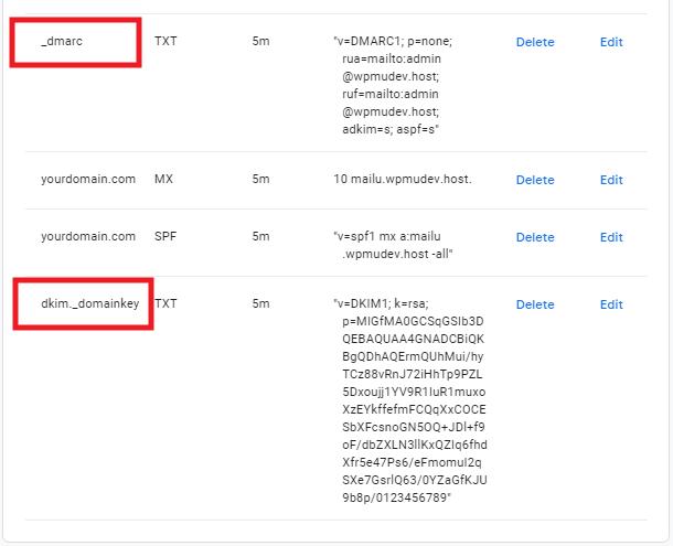 Edit DNS entries at Google Domains