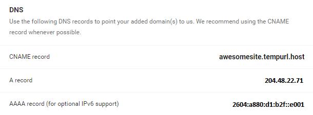 WPMU DEV DNS records location