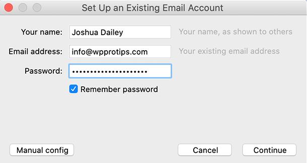 Thunderbird email settings