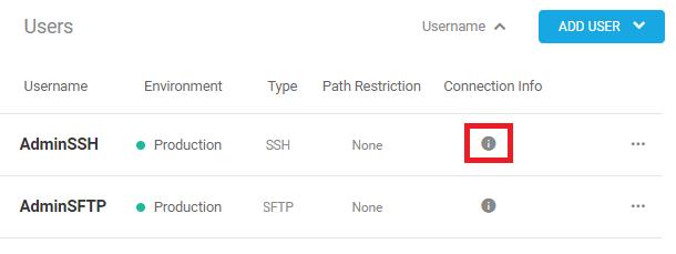 SSH details icon