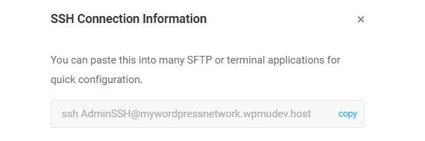 SSH command for CLI
