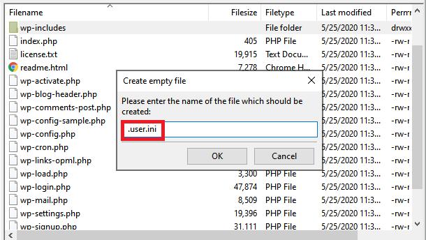 name the file .user.ini
