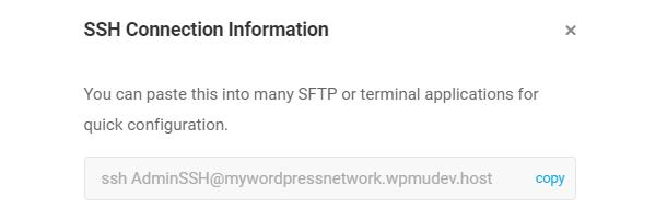 SSH CLI command info