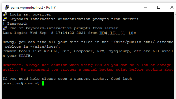 Creating an SSH tunnel with PuTTY
