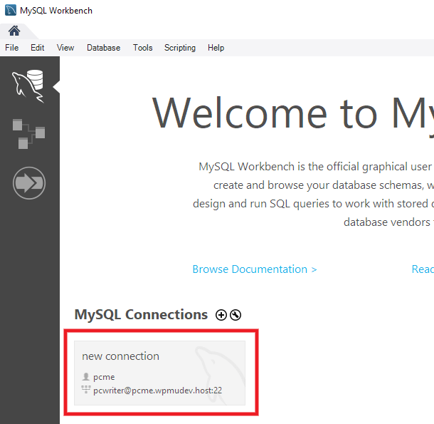 Creating an SSH tunnel with MySQL Workbench
