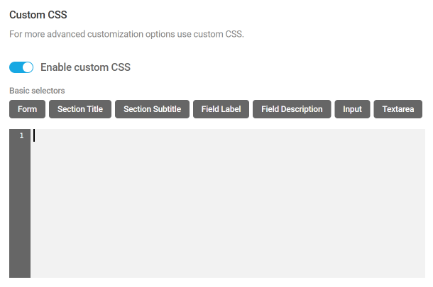 Add custom CSS to Forminator forms