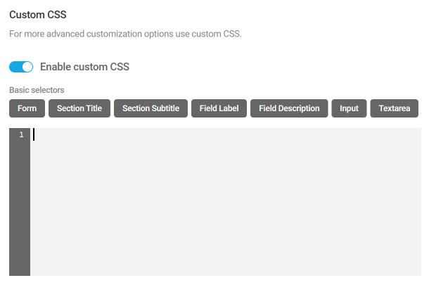 Add custom CSS to Forminator forms