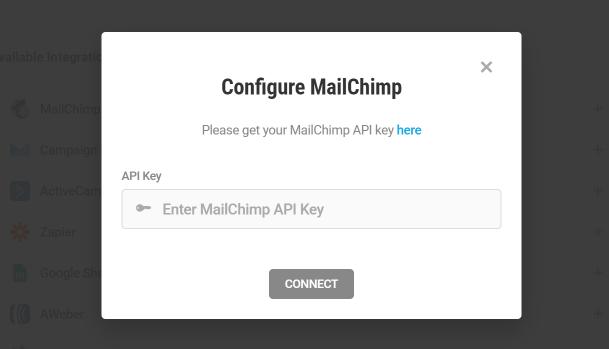 Get MailChimp API key for integration with Forminator