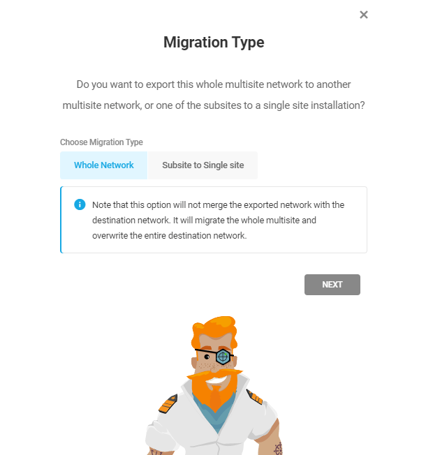 Multisite migration with Shipper API