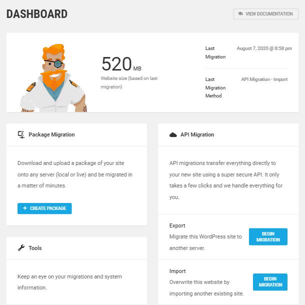 Dashboard screen in Shipper
