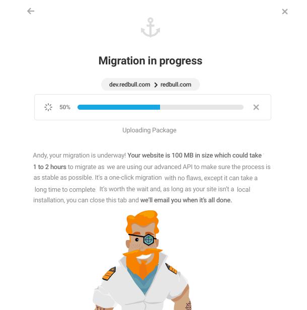 Shipper migration in progress