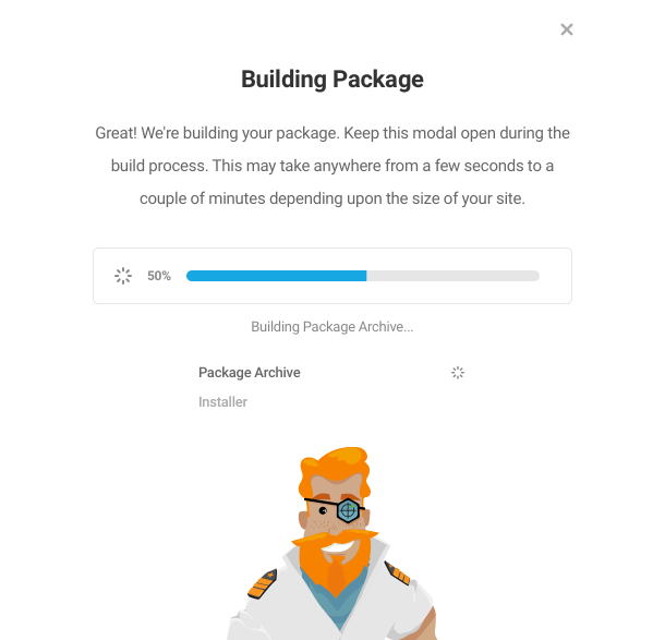 Building migration package in Shipper