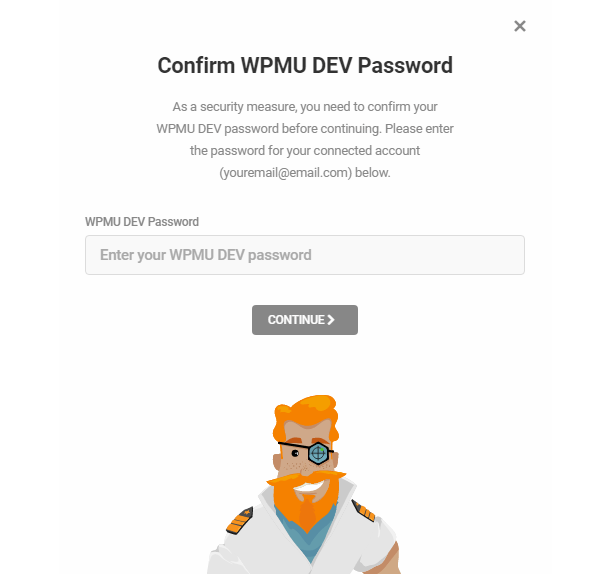Confirm password for Shipper migration